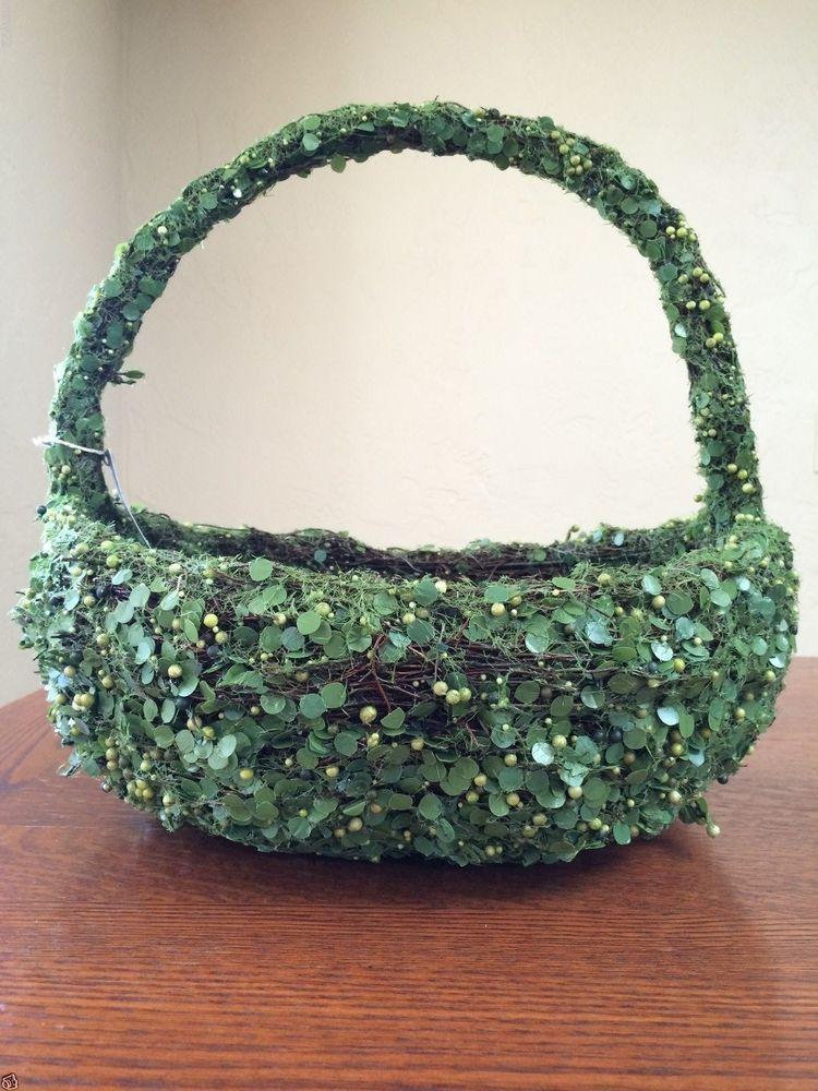 Pottery Barn Greenvine Xlarge Easter Basket Green Vine Ivy