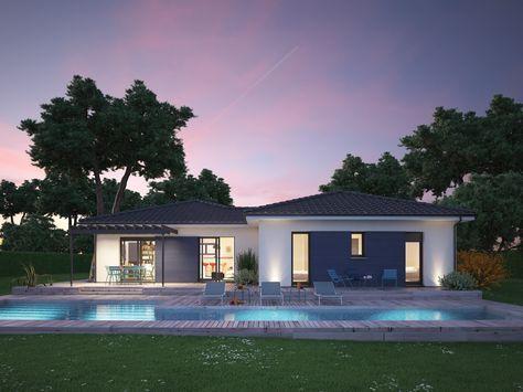 mod le de maison villa hortense propos par couleur villas retrouvez tous les types de maison. Black Bedroom Furniture Sets. Home Design Ideas