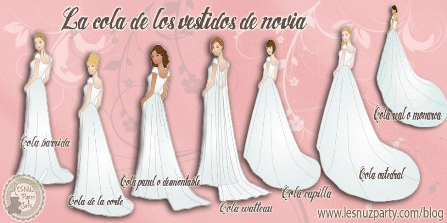 La cola de los vestidos de novia | cosas de sastrería | Pinterest ...