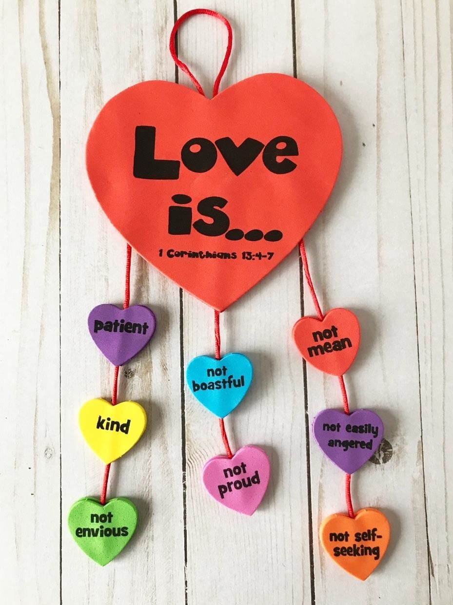 God is LOVE Sunday School Craft Ideas | Sunday school ...