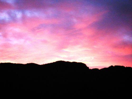 Sunrise the morning of our hike to Arnett Canyon, Arizona