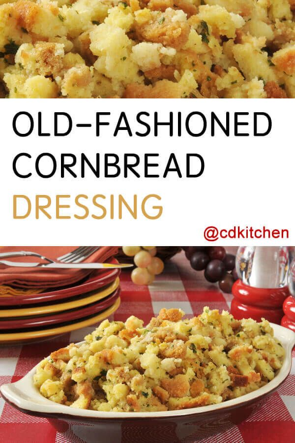 Old-Fashioned Cornbread Dressing Recipe | CDKitchen.com
