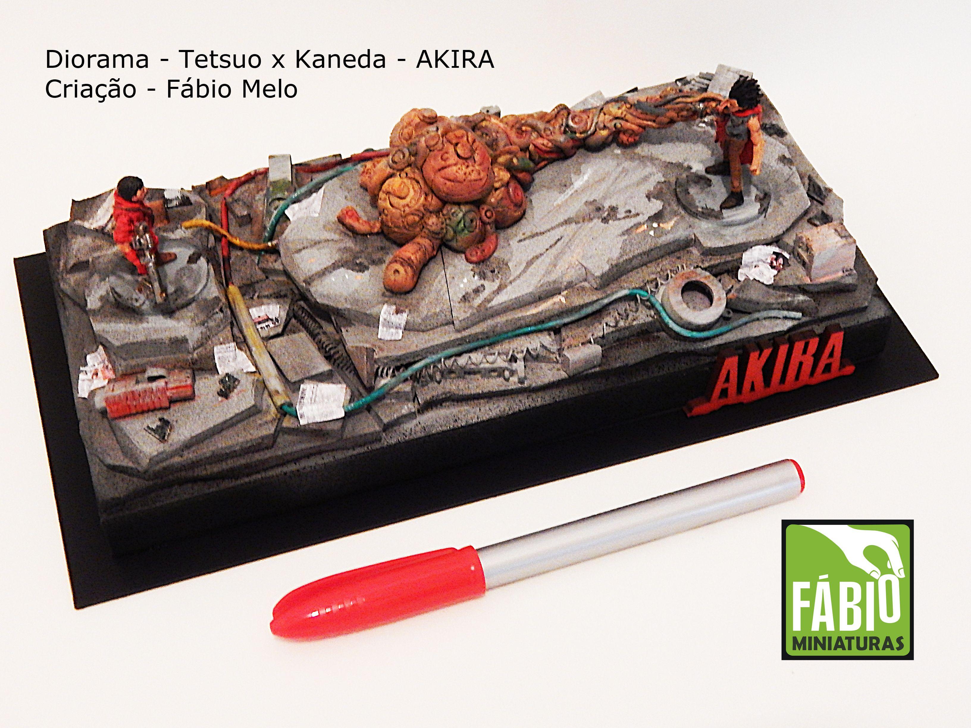 Mini cenário KANEDA versus TETSUO  por Fabio Melo : fabioartista@gmail.com