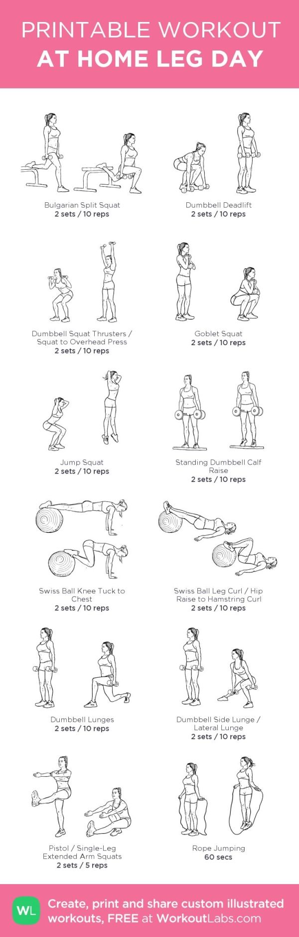 At-home leg day workout. Build custom workout routines or browse pre ...