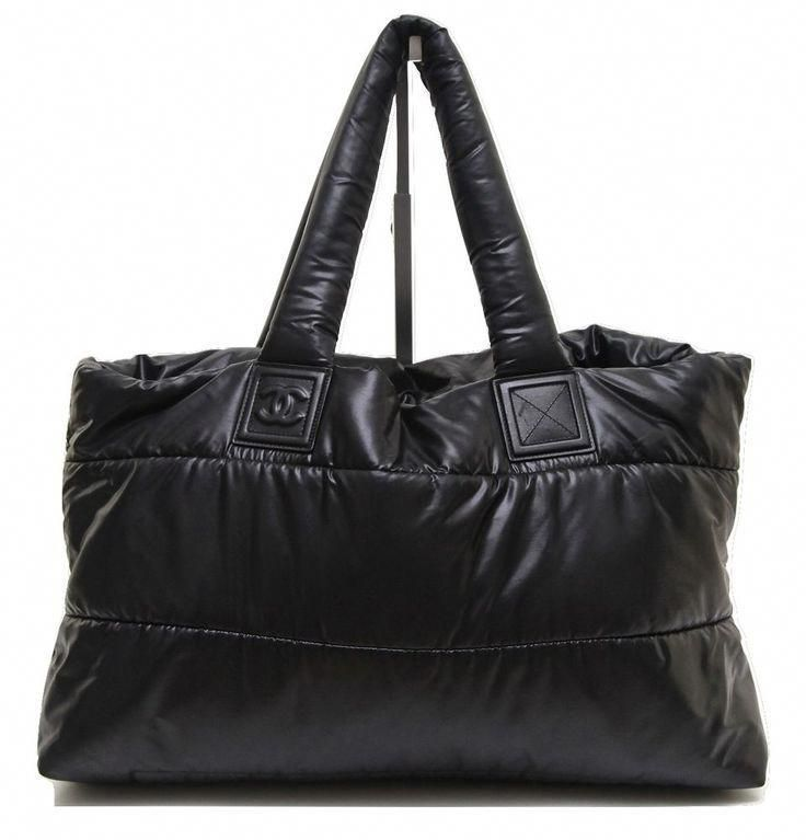 b9f622e3c6b92f Chanel Nylon Coco Cocoon Large Black Tote Bag. Get one of the hottest  styles of the season! The Chanel Nylon Coco Cocoon Large Black…
