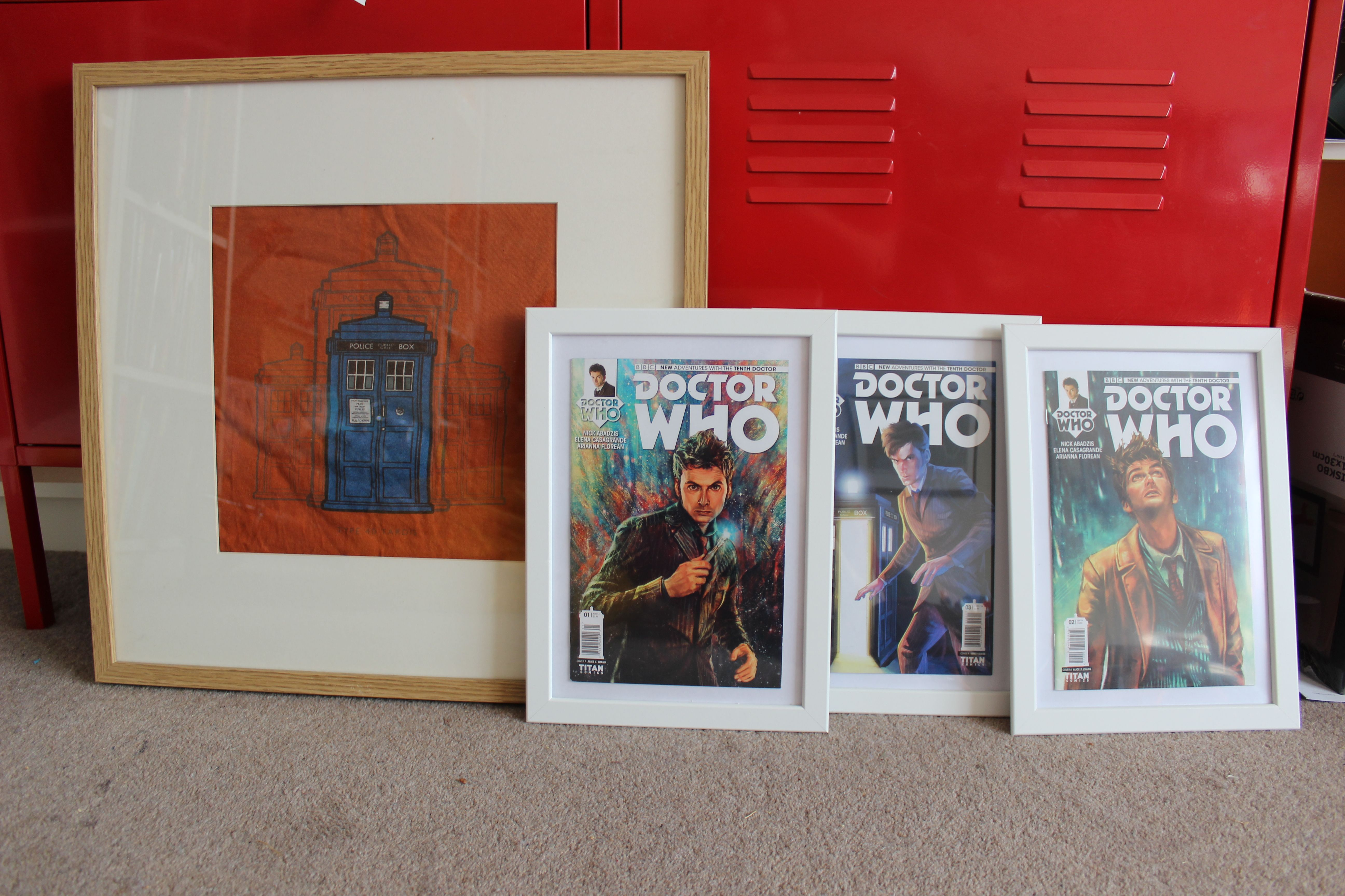 Old Doctorwho T Shirt Upcycled With An Ikea Frame I Ve Also Framed