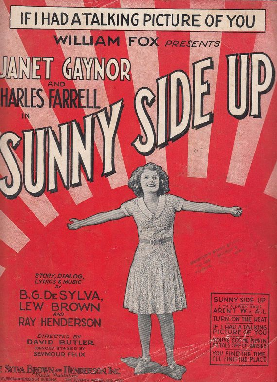 If I Had a Talking Picture of You 1929 Sheet Music Sunny Side Up Janet Gaynor by QuinsippiMercantile #vintage #ephemera #sheetmusic
