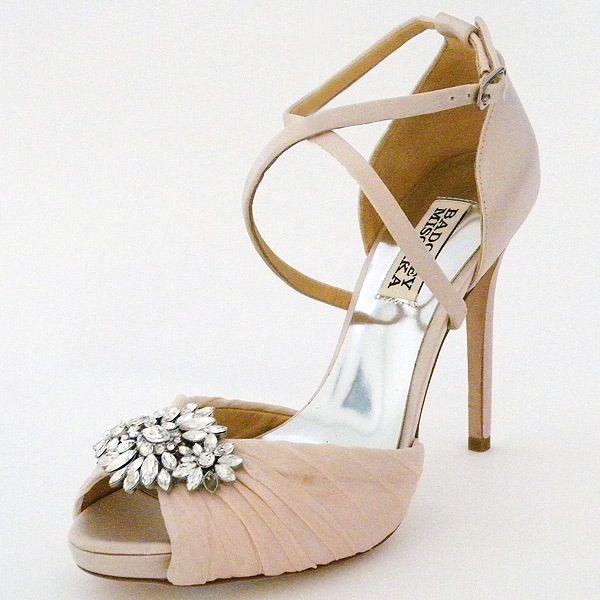 badgley mischka cacique wedding shoes soft pink bridal