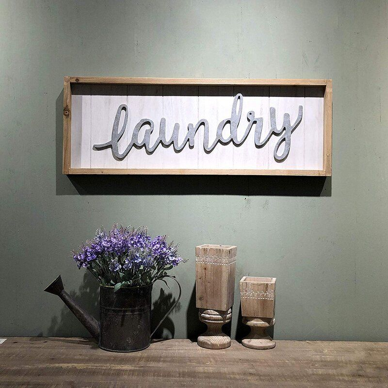 Laundry Sign Wall Décor #laundrysigns