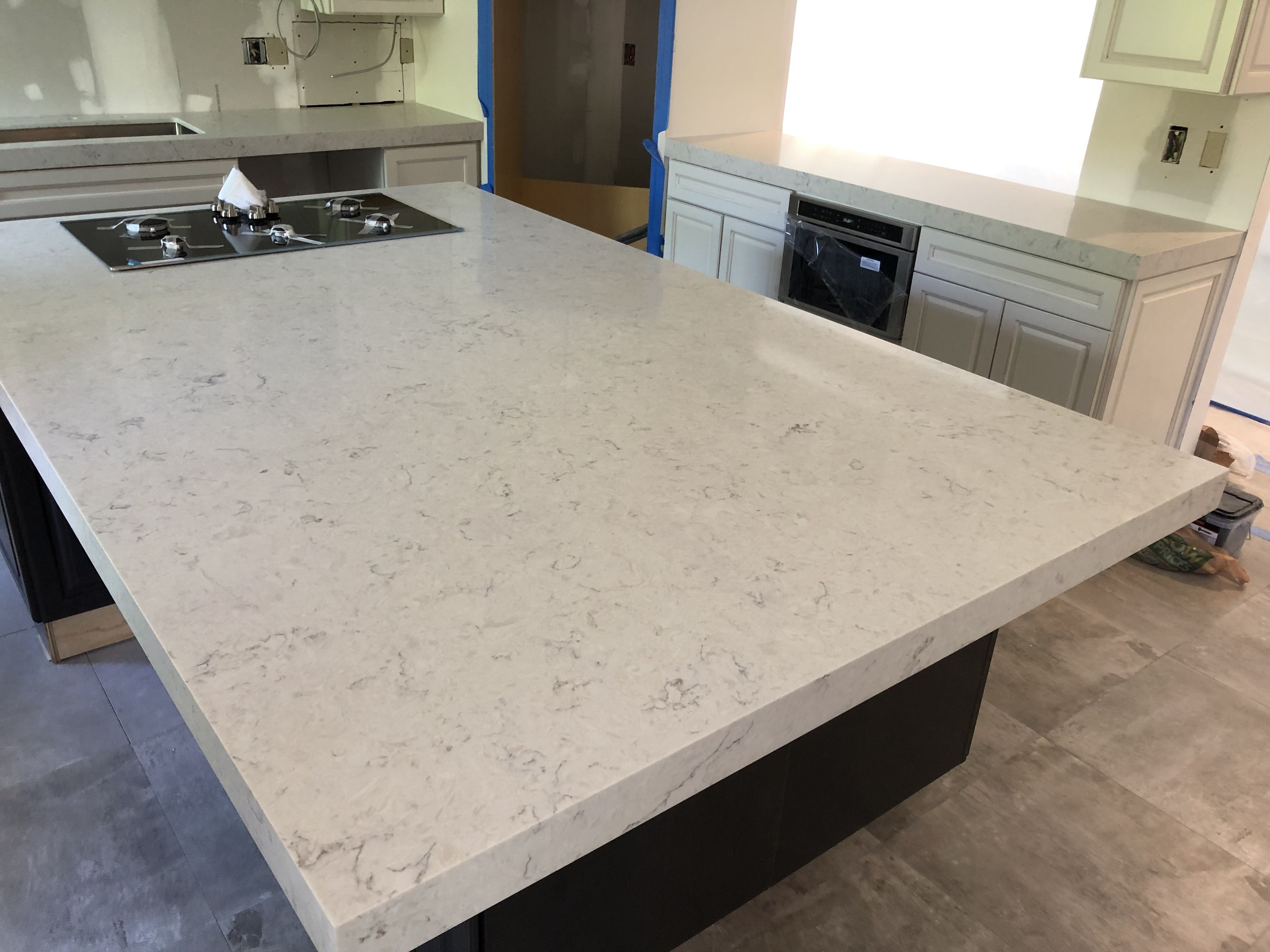 Carrara Mist Quartz Countertops Installer Near Me Quartz