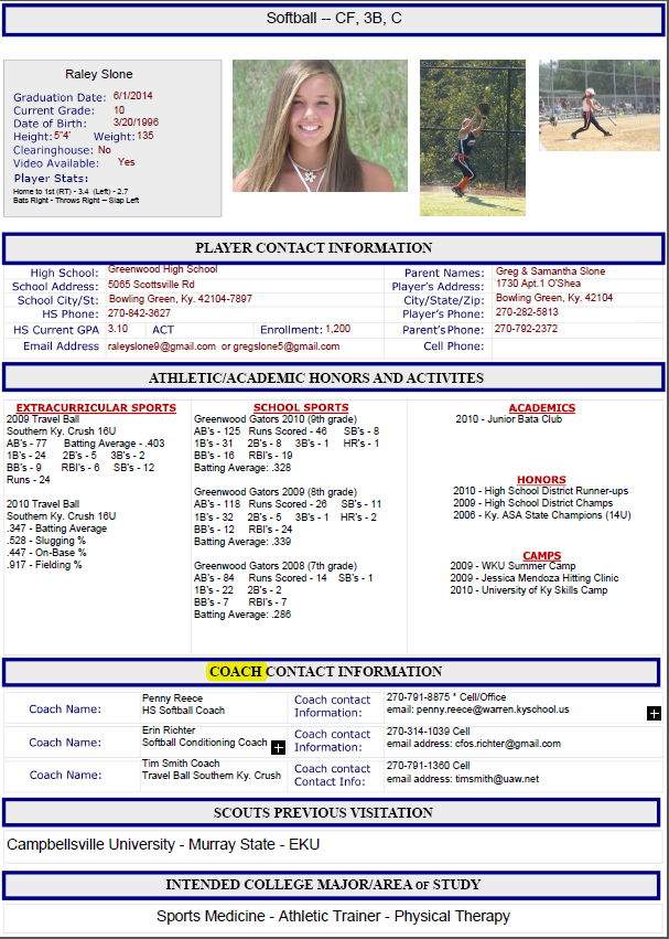 Athletic Resume Template Free Resume Format Templates G5K6V5aP  Soccer Resume For College