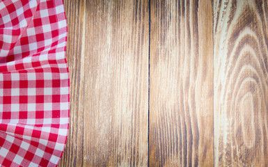 Table cloth on wooden background.Fastfood concept. | Wooden ...