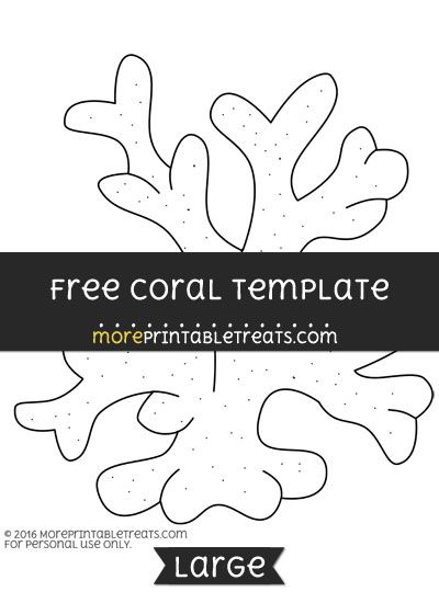 free coral template large ocean theme free printables free
