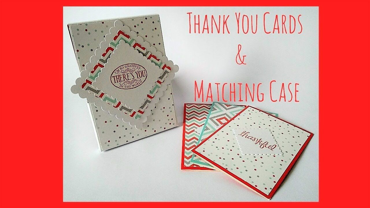 Thank you cards and matching case | Stampin Up A Little Foxy tutorial