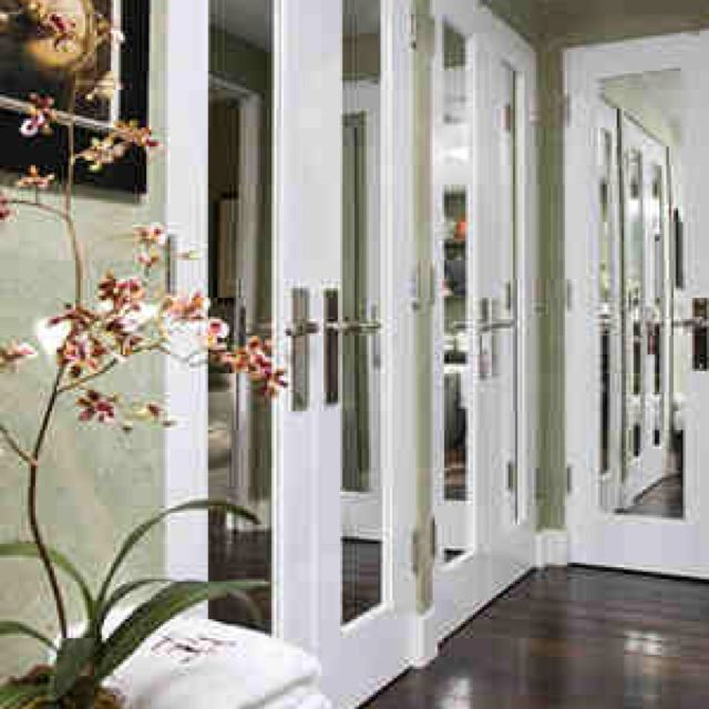Bedroom Closet Door Or Inside Masterbedroom Doors Use French Doors And  Mirrored Panels To Replace Sliding Closet Doors