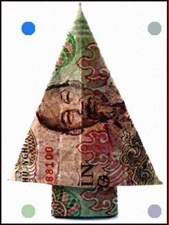 Photo of Geld Origami Weihnachtsbaum