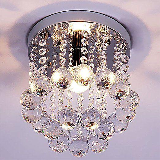 ZEEFO Kristallkronleuchter , Mini Stil Moderne Dekor Flachbauweise - deckenleuchte für küche