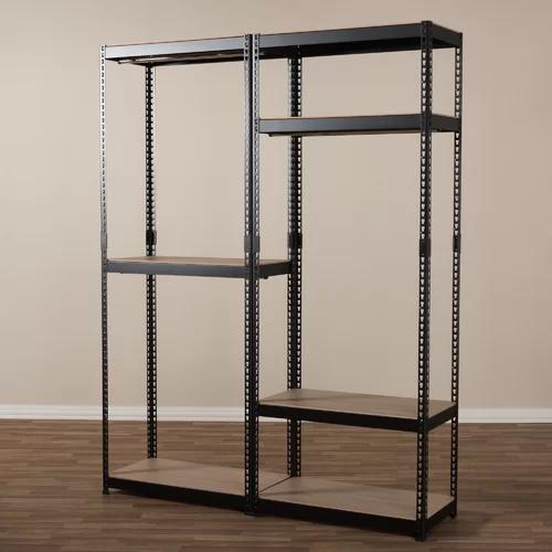 Belote 63 W Metal Closet System Closet Rack Closet Shelves