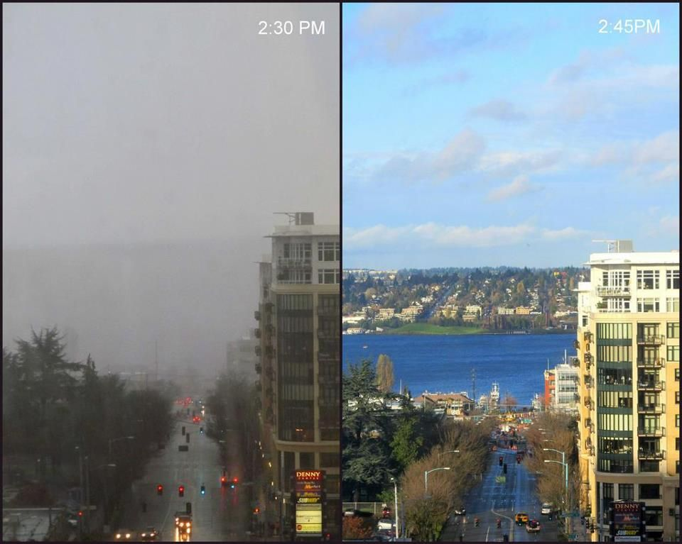15 Minute Difference In Seattle Weather Seattle Weather Pictures Seattle