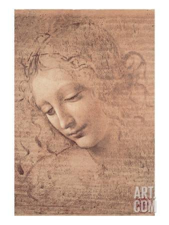 Female Head (La Scapigliata), c.1508 Art Print by Leonardo da Vinci at Art.com