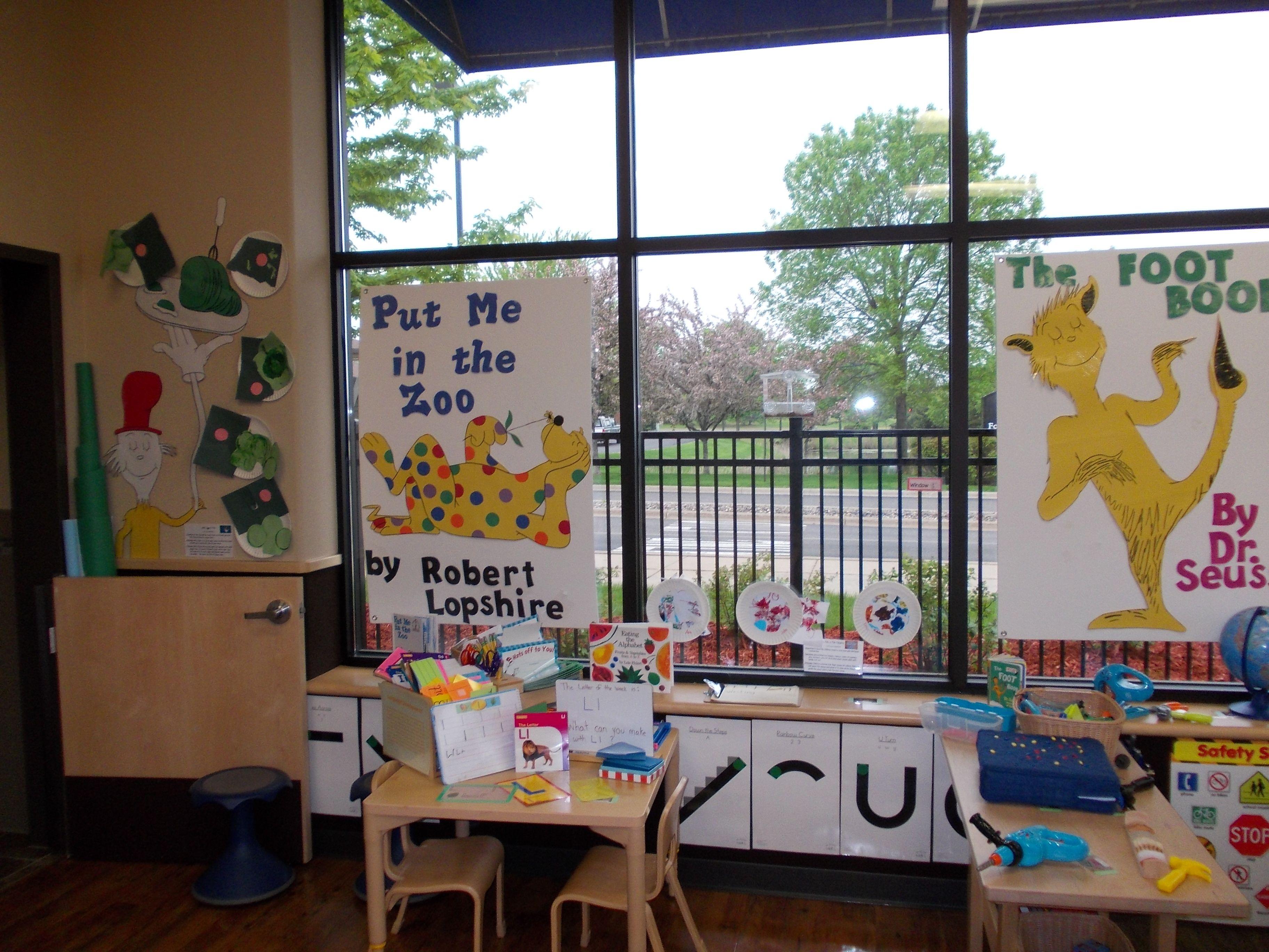 Preschool Dr Seuss Theme Room Enhancements The Foot Book