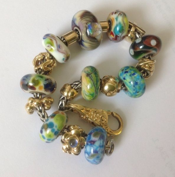 Trollstones And Gold Bracelet From A Danish Collector On Trollbeads Gallery Forum