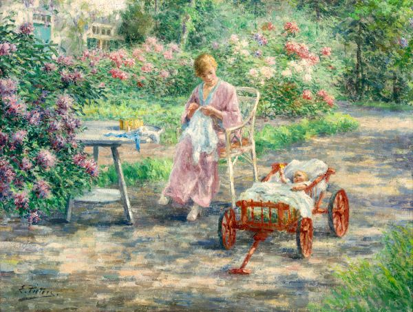 Evert Pieters (1856 - 1932, Dutch)   Arte, Parques, Versos