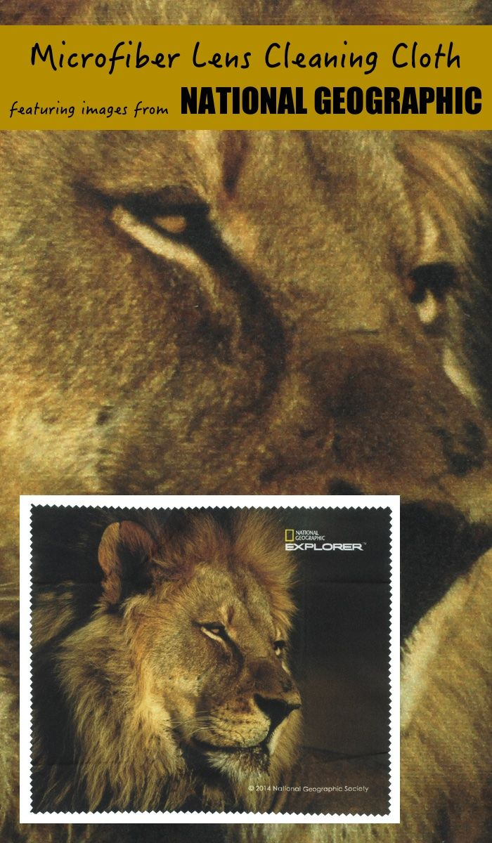 Microfiber Lens Cleaning Cloth Featuring Images From National Geographic Lion Holiday National Geographic Image Microfiber