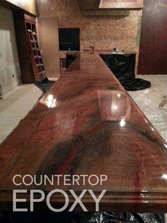 Lovely Photos Of Beautiful, Seamless Epoxy Countertops