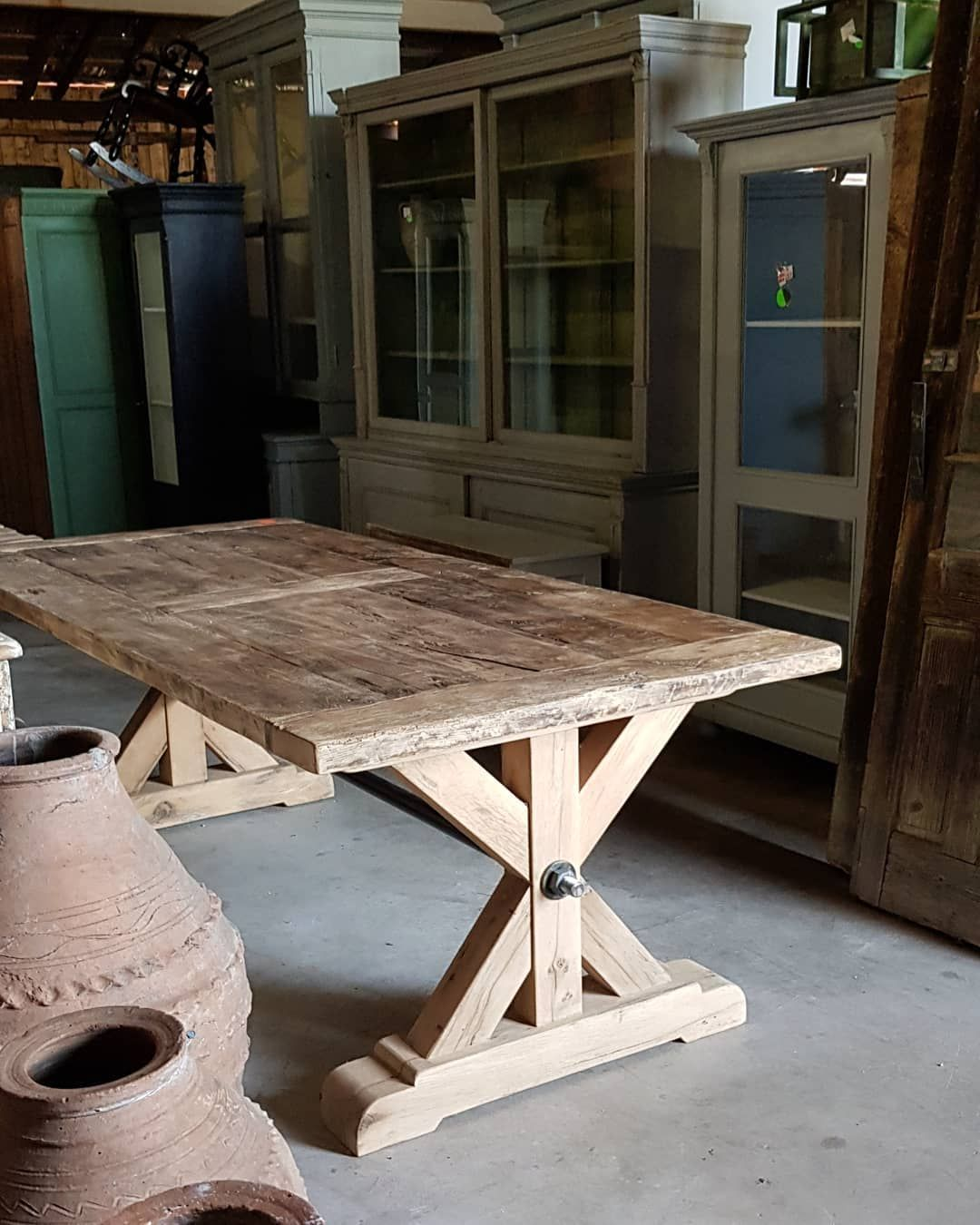 Warehouse Table C I A Warehouse Right Now Work In Progress One More Big Oak