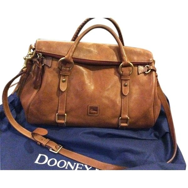 Pre-owned Dooney & Bourke & Medium Florentine In Natural Satchel ($188) ❤ liked on Polyvore featuring bags, handbags, natural, leather purse, brown purse, genuine leather purse, brown leather satchel and brown satchel handbags