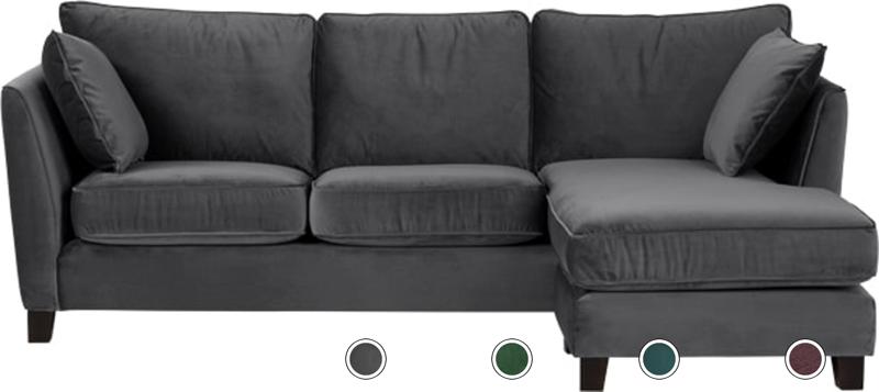 Marvelous Wolseley Large Corner Sofa Pewter Grey Velvet From Made Com Interior Design Ideas Gentotryabchikinfo