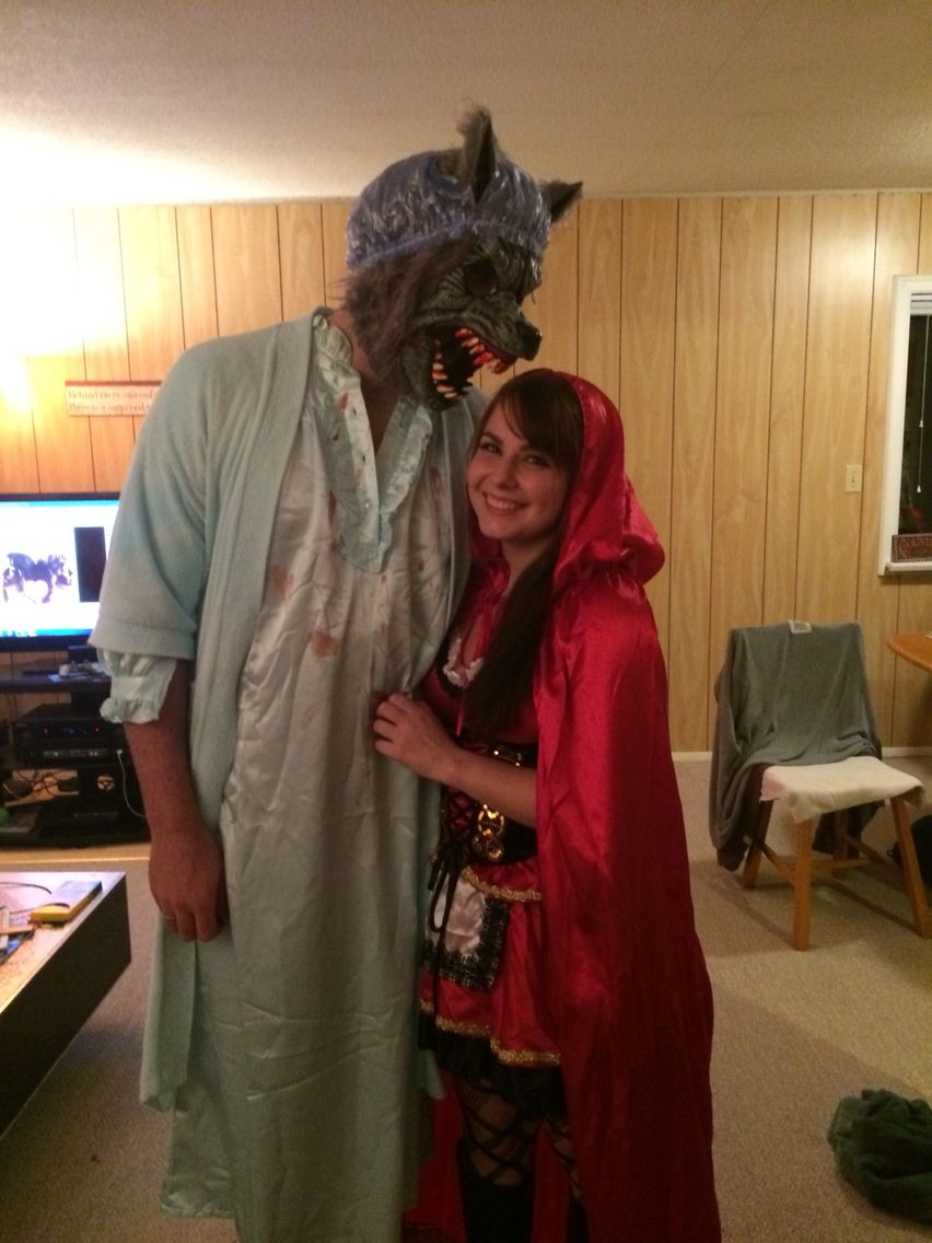 Halloween couple Little red riding hood and the big bad wolf ...