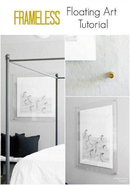 Frameless Floating Art Tutorial   Acrylic art, Acrylics and Easy