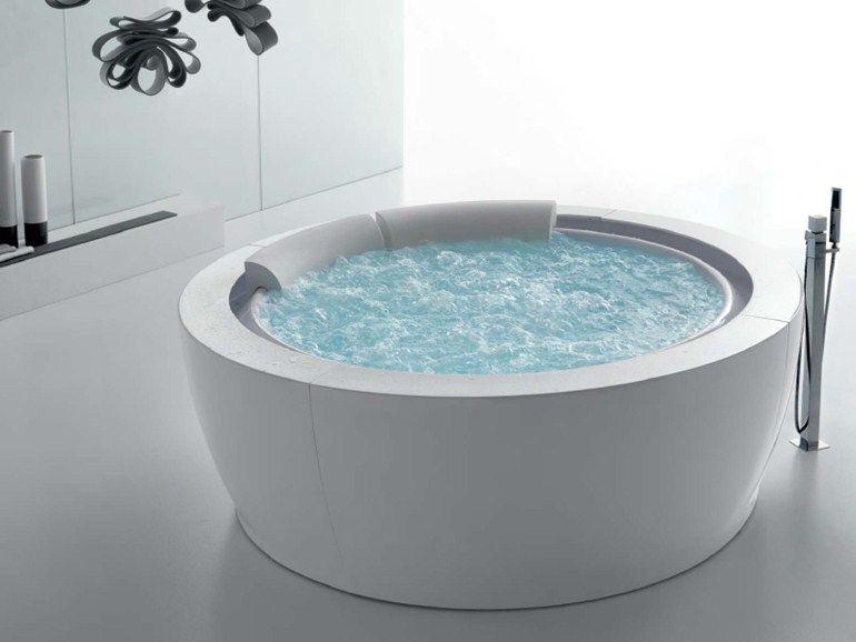 Vasche Da Bagno Idromassaggio : Vasca da bagno idromassaggio rotonda bolla sfioro by gruppo