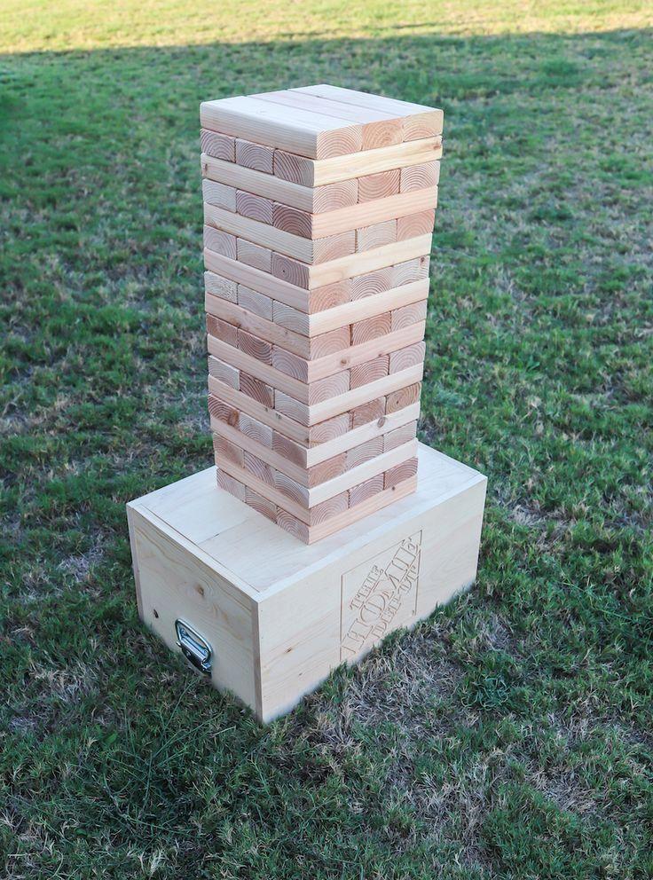 How to make an outdoor DIY giant Jenga game | Jenga ...
