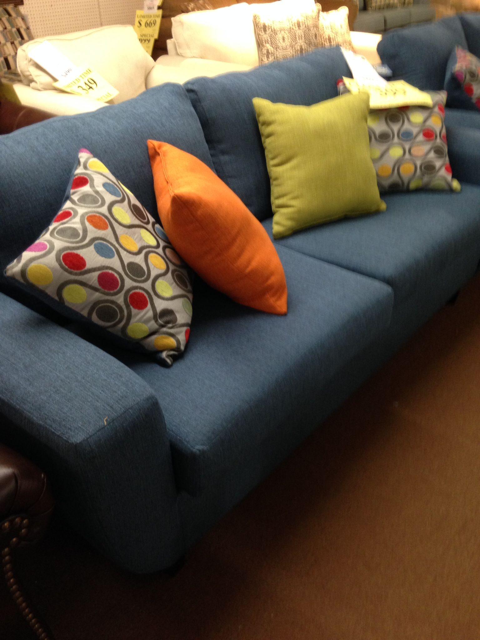 Serra sofa in a nice demon colored fabric on sale home decor
