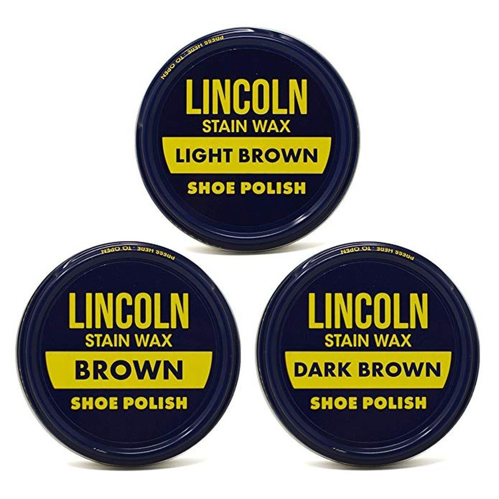 Lincoln Stain Wax Shoe Polish Variety Pack Of Browns Fashion