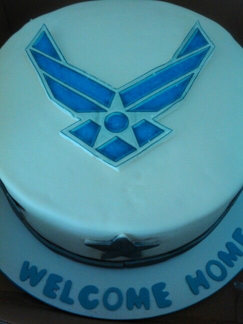 Airforce Welcome Home Cake For A Friend Cakes By Me Pinterest