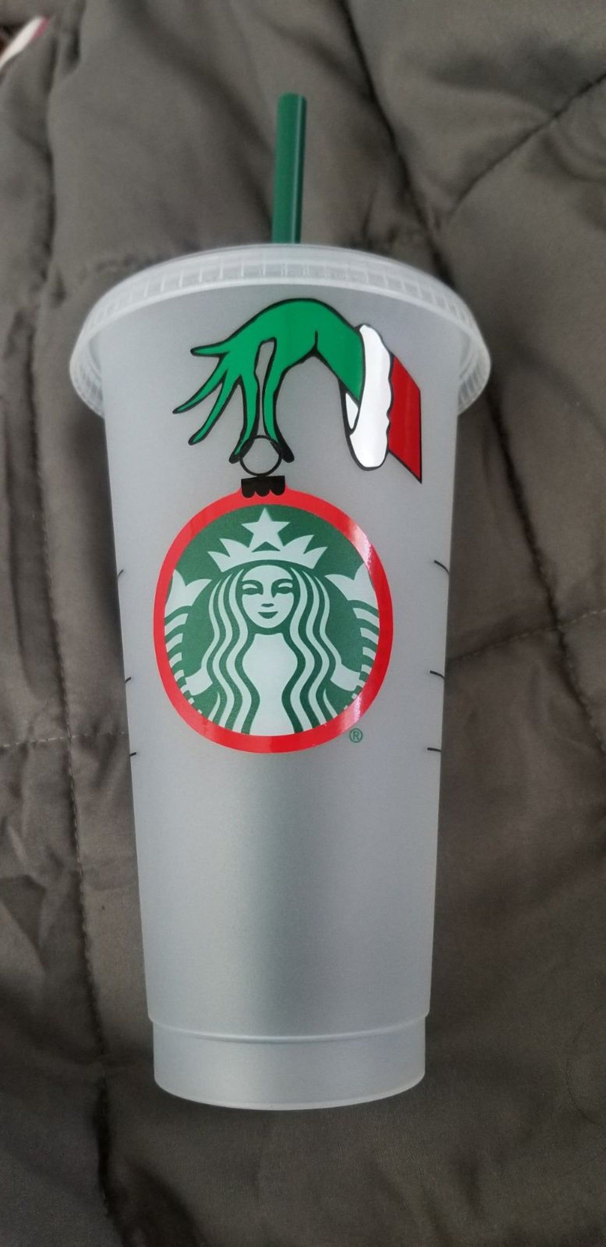Grinch Starbucks Cold Cup in 2020 Starbucks christmas