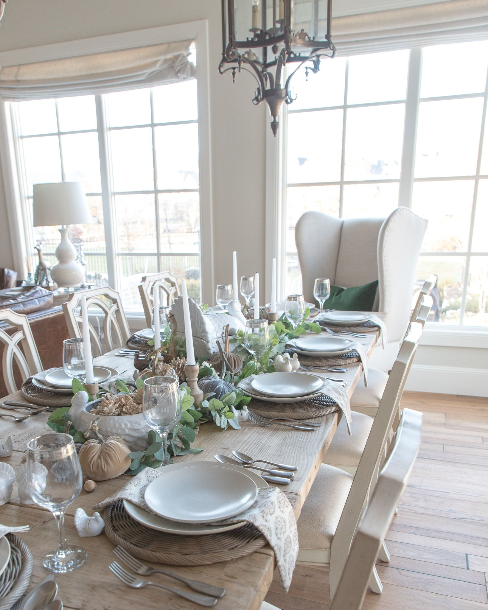 Rustic Thanksgiving Tablescape Rustic Dining Room Table Dining Room Table Decor Pottery Barn Dining Room