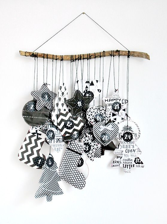 schwarz wei adventskalenderinkl freebie gift wrapping pinterest christmas advent und. Black Bedroom Furniture Sets. Home Design Ideas
