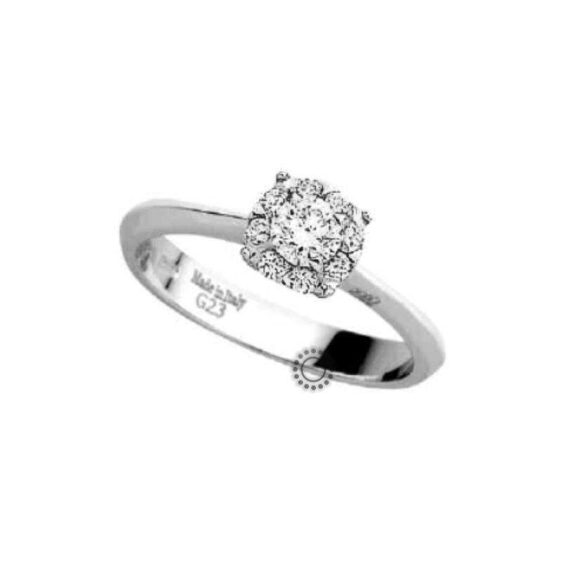 Μονόπετρο λευκόχρυσο με μπριγιάν  amp  διαμάντια 4062012b14c