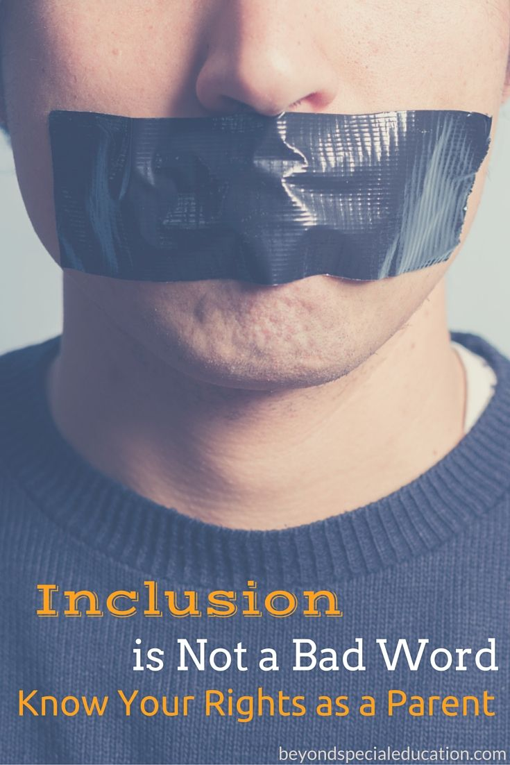 Inclusion is not a bad word know your rights as a parent