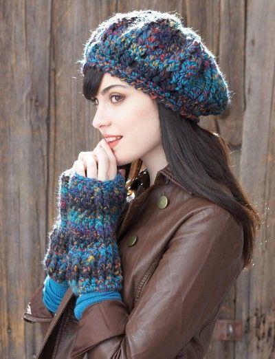 Beret And Fingerless Gloves Yarnspirations Crochet