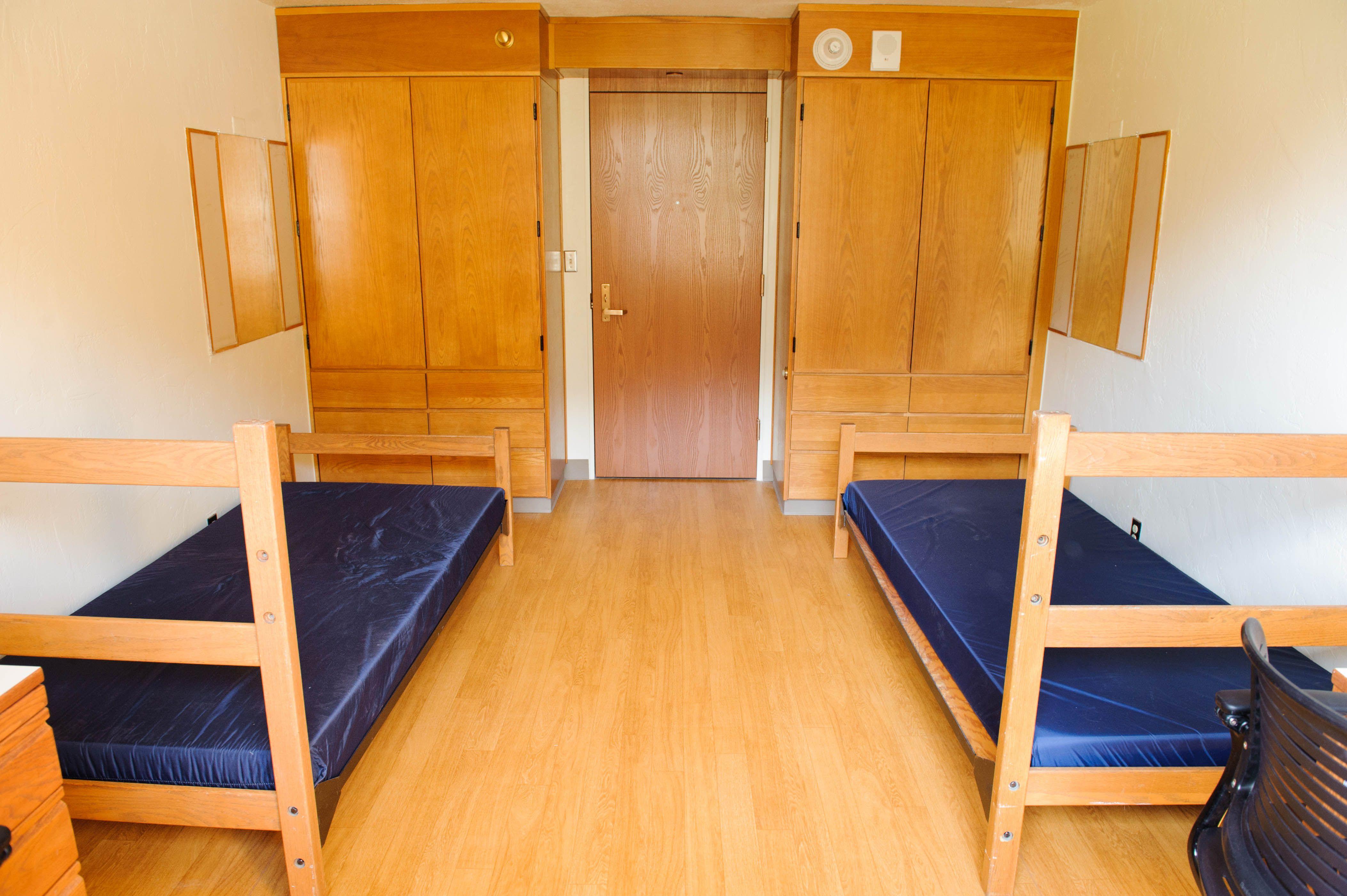 Back-to-School: Dorm Room Essentials – The Bedding Snob |Empty Dorm Room