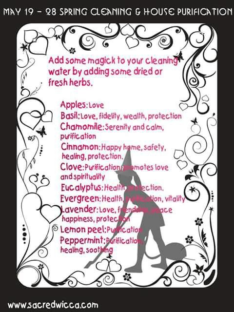 House cleaning | Wiccan /Witch | Wiccan witch, Kitchen witchery