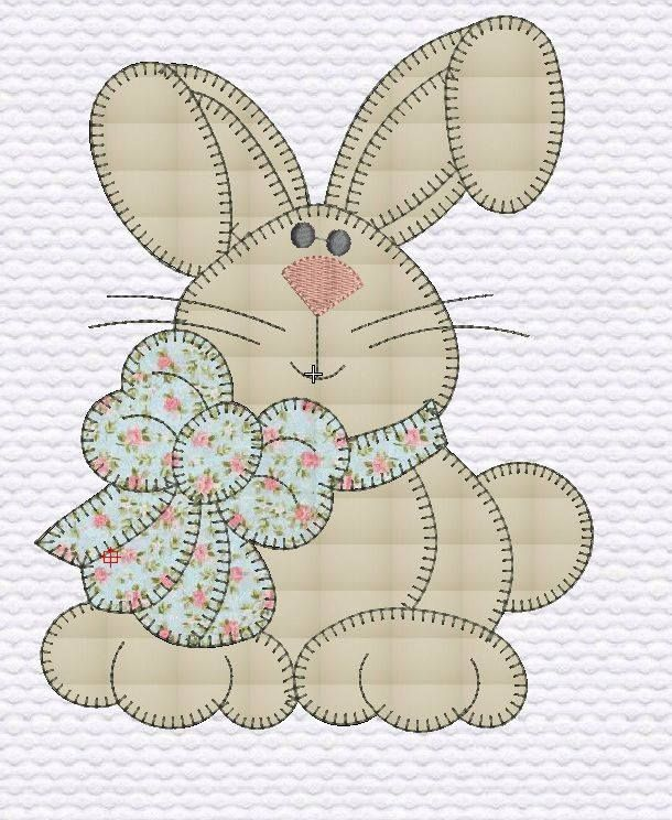 Pin von Joann Kabat auf Easter Quilts | Pinterest | Applikationen ...