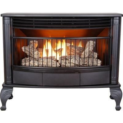 emberglow 25000 btu vent free dual fuel gas stove with thermostat