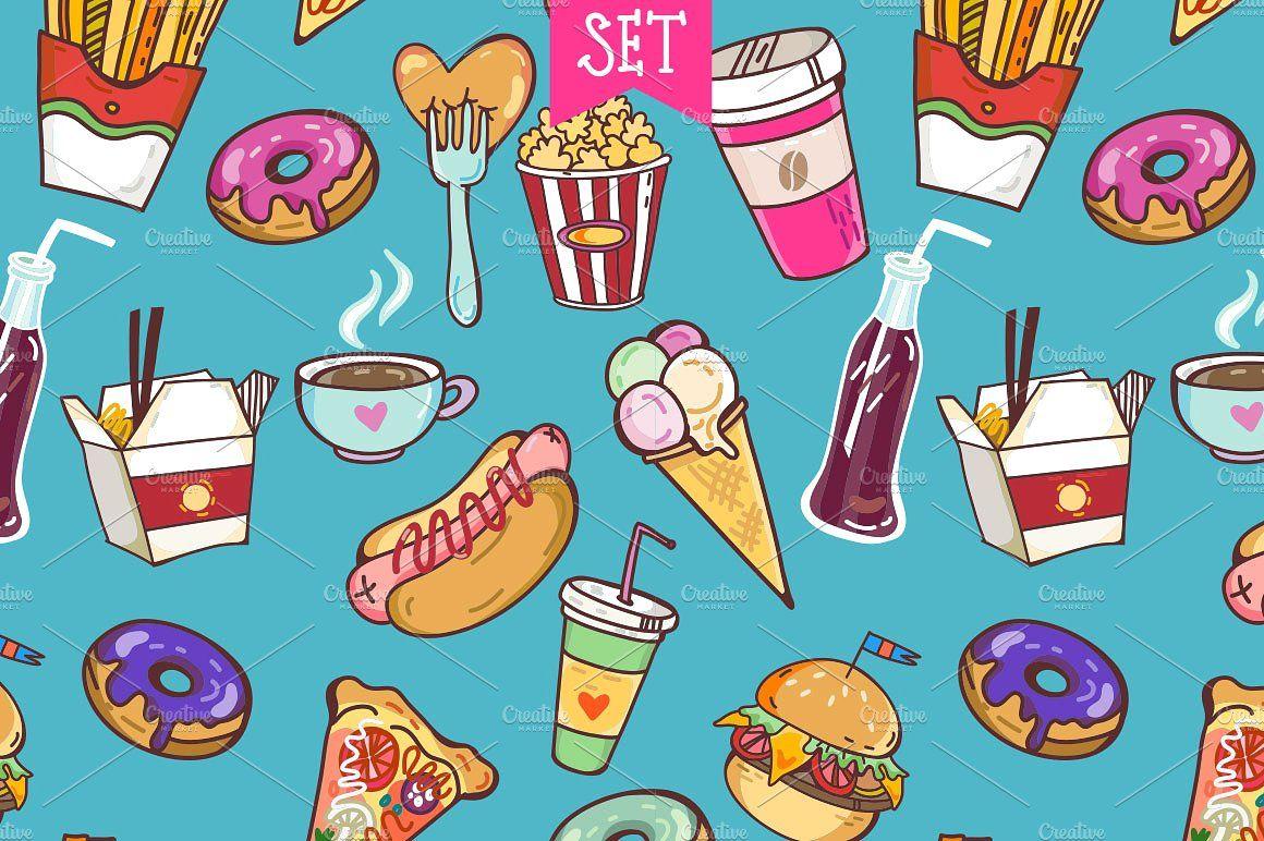 Fast Food 2 แพนดา กราฟ ก การออกแบบโลโก